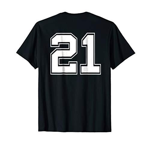 Number 21 Football Baseball Soccer Jersey Uniform T Shirt