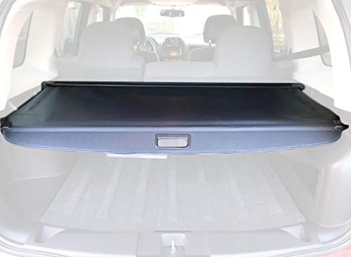 Cargo Cover For 2008-2016 Jeep Patriot/Compass Black Retractable Trunk Shielding Shade by Kaungka(There is no gap between the back seats and the cover)