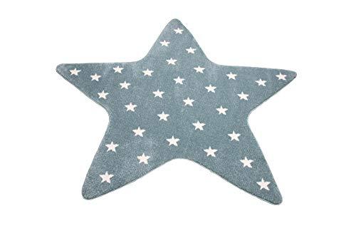 CARPETIA Teppich Kinderzimmer Sternteppich Spielteppich Stern blau Größe 120 cm Rund