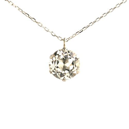 【 DIAMOND WORLD 】レディース ジュエリー PTホワイトトパーズペンダントネックレス