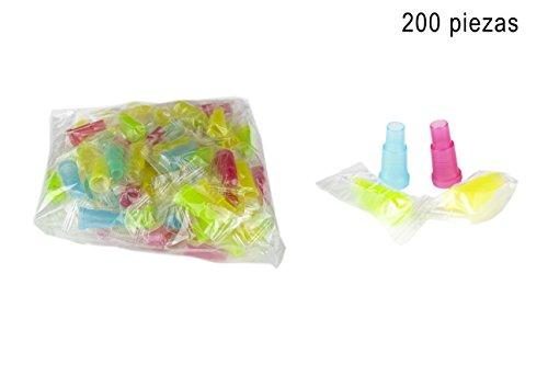 PAIDE P Hygienische Düsen mundstücke Schlauch für Shisha - Schlauch für Shisha-Schlauch - Einzeln verpackt Packung mit 100 und 200 Einheiten (200 Short)