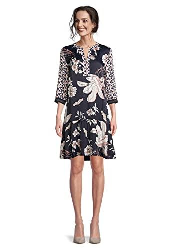 Betty Barclay Damen 1537/2190 Kleid, Dark Blue-Rosé, 40