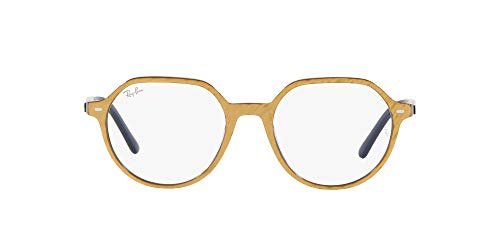 Ray-Ban 0RX5395 Gafas, WRINKLED BEIGE ON BLUE, 51 Unisex Adulto