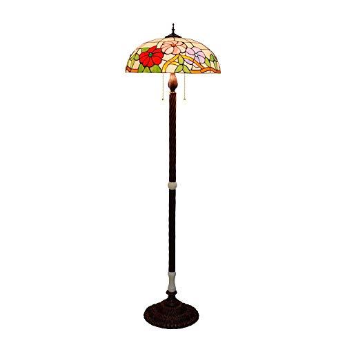 50CM Gran Salón Comedor Sala de Arte Lámpara American Bar del vitral de Tiffany retro gloria de mañana de la lámpara de la lámpara de pie Villa Pasillo clásico del hotel Jade antiguo de pie Lámpara de