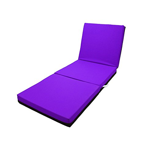Magshion Memory Foam Trifold Folding Mattress Floor Bed 4 Inches - Single, Twin, Full, Queen (Queen, Purple)
