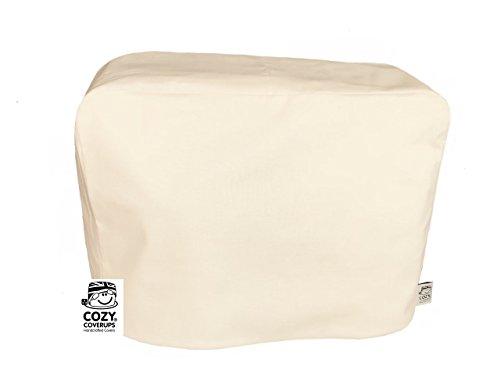 Cozycoverup® Abdeckung für Küchenmaschine Kenwood Chef gegen Staub, einfarbig, cremefarben
