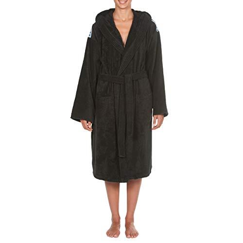 ARENA Unisex Bademantel Soft Robe Core, Black White, M