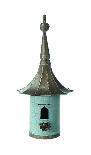 Creative Co-Op DA1151 Brown & Blue Decorative Metal Birdhouse