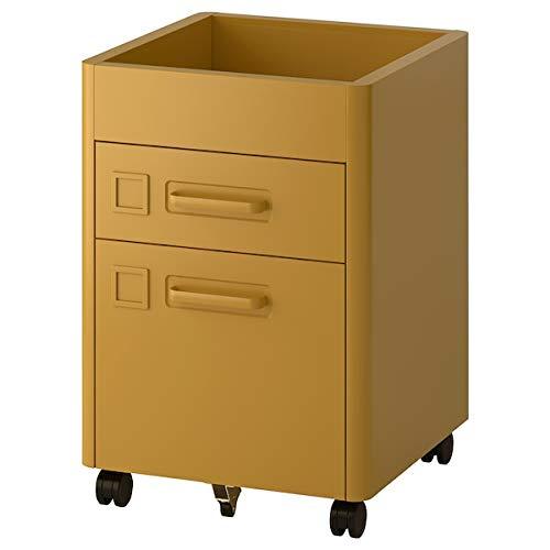 BestOnlineDeals01 Cajonera con ruedas IDÅSEN en color marrón, 42 x 61 cm para uso de oficina. Cajonera para oficina y cajones. Almacenamiento y organización. Respetuoso con el medio ambiente.