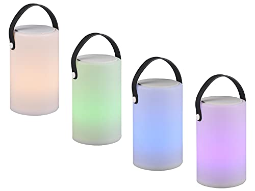 2er SET LED Tischleuchten, dimmbar mit Farbwechsel, Fernbedienung, Bluetooth Lautsprecher & USB Anschluß