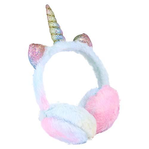 BESPORTBLE Einhorn Ohrenschützer Plüsch Ohrenwärmer Winter Ohrenschützer Katze Ohrwärmer Stirnband Wärmer Outdoor Kopfbedeckung für Frauen Mädchen