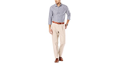 Dockers Men's Classic Fit Signature Khaki Pant – Pleated D3 , Dark Khaki, 42×32
