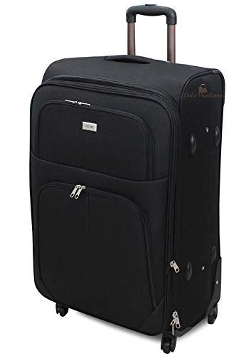 ORMI trolley bagaglio a mano da cabina piccolo medio grande extra large XXL 4 Ruote (Nero, M (55x22x38))
