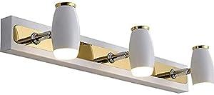 DGHJK Lampe Miroir de Style Nordique, Applique Murale de Salle de Bain à LED, Lampe Miroir de Salle de Bain étanche rotative, adaptée à l'armoire de Miroir de Coiffeuse d'intérieur