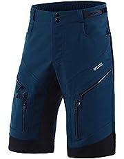 ARSUXEO Fietsbroek heren MTB Shorts Baggy Cycle Shorts Waterbestendig met rits zakken