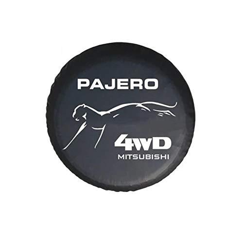 Cubierta para Rueda de Repuesto de Adecuado para 4WD Mitsubishi Motors Montero LTD Raider Pajero 14'-17'. Funda Protectora para Rueda de Repuesto de PVC, Cubierta del neumático de Repuesto,No 4,15''