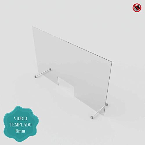 Sichtschutz – Badewanne – für Ausstellungen und Bürotische – 6 mm gehärtetes Glas Personalisierbare Maße. 60 x 80 cm durchsichtig