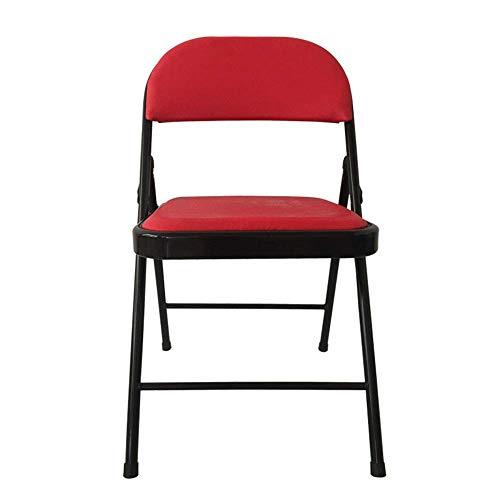 PYROJEWEL Silla de Comedor Silla Plegable de la Oficina Silla Plegable portátil (Color: Rojo, Tamaño: 78x47x40cm)