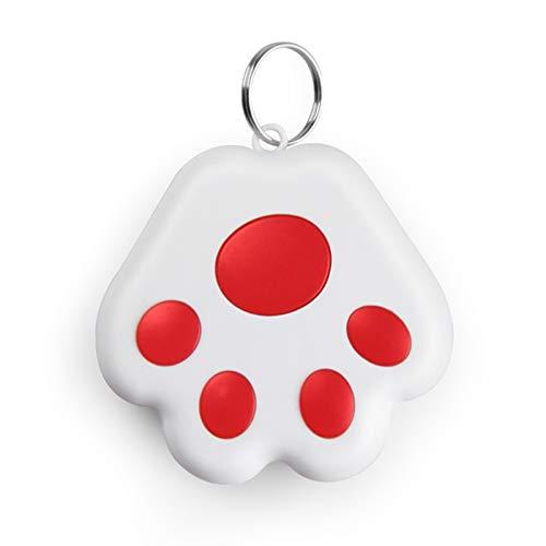 Atrumly Bluetooth-Anti-Lost-Tracker Anti-Lost-Alarm für Hundepfoten GPS-Tracker für Haustiere Echtzeit-Tracking-Halsbandausrüstung für die Standortbestimmung von Hunden und Katzen wasserdicht(35 g)