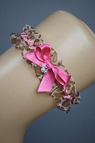 Liguero liga novia boda rosa pink leopard animal tradicion despedida d