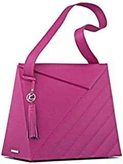 Kaizer KB2110FUCHS Leather Shoulder Bag for Women - Fuchsia