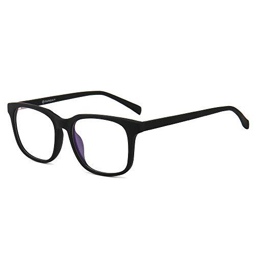 SUNGAIT Optics Brillen mit Blaulichtfilter Hoher Schutz– Anti-Müdigkeit, Anti-Blaulicht, UV-Schutz -Gaming Brillen für PC, Handy und Fernseher Schwarz 6025