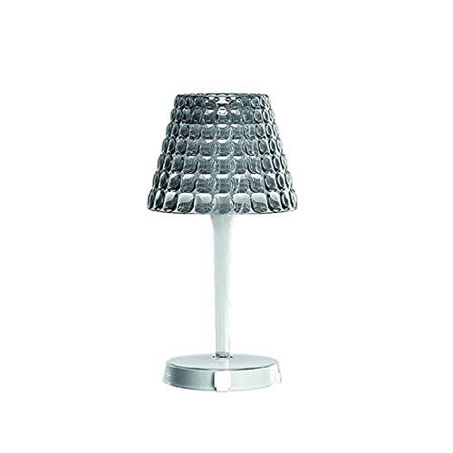 Guzzini Tiffany LED Cordless Lampada Da Tavolo PMMA A Batteria Senza Fili - Fumè