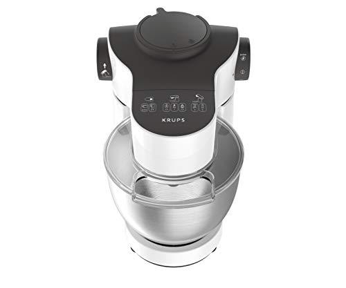 Krups KA3121 Master Perfect Küchenmaschine (1000 Watt, Gesamtvolumen: 4 Liter, inkl.: Back-Set, Aufsatz Schnitzelwerk mit Reibekucheneinsatz) weiß - 2