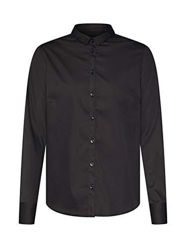 MOS MOSH Langarm Bluse TILDA SHIRT Hemdkragen Knopfleiste schwarz Größe M