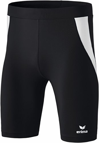Erima Kinder Shorts Tight, Schwarz/Weiß, 152