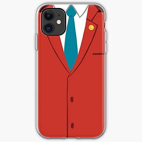 Jinfugongmao Compatibile con iPhone 12/11 PRO Max 12 Mini SE X/XS Max XR 8 7 6 6s Plus Custodie Justice Ace Attorney Phone Wright Apollo Phoenix Custodie per Telefoni Cover