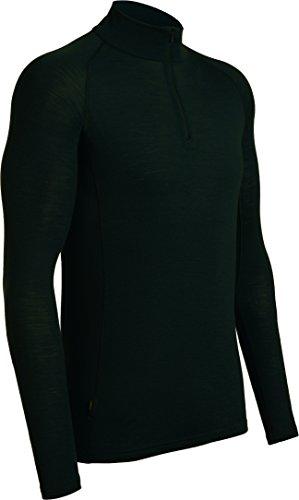 Icebreaker Mens Everyday LS Half Zip sous Vêtement Thermique Homme, Noir, FR : M (Taille Fabricant : M)