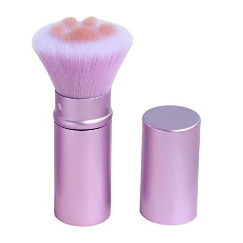That Pinceau rétractable Portable Pinceau de maquillage en poudre libre en forme de griffe de chat mignon intelligent