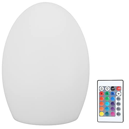 Carga USB LED 16 colores Control remoto Luz nocturna Lámpara impermeable al aire libre (14 x 19 cm)