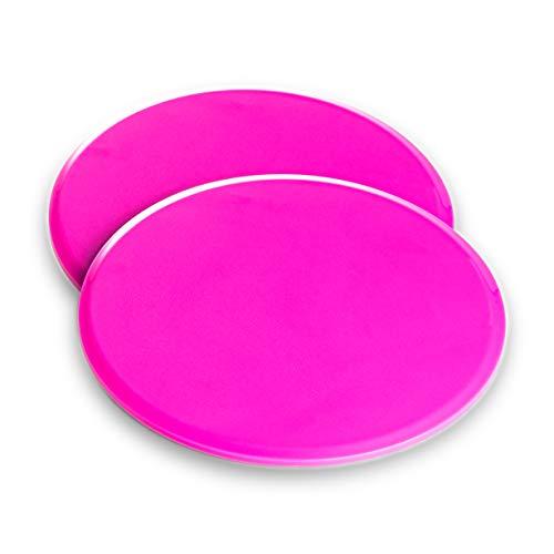 VELOVITA Slider Discs – Yoga Retreat • rosa • 2er Set • doppelseitige Gleitscheiben • für Holz- & Teppichböden • Gym & Home Workout Equipment • Fitness Pads für das Ganzkörpertraining