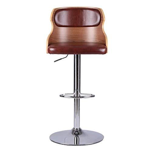 AI LI WEI SHUAIIJUAN Sedia per Il Tempo Libero Domestico Base Girevole for Cucina Colazione Sgabelli da Bar Alti 丨 Schienali for sedie da Bar Ascensore a Gas Regolabile 60-82x45x42cm (Color : C)