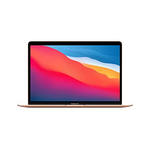 Nuevo Apple MacBook Air (de 13 pulgadas, Chip M1 de Apple con CPU de ocho núcleos y GPU de siete núcleos, 8 GB RAM, 256 GB SSD) - Oro
