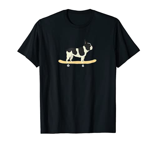 Funny Skateboarding French Bulldog Puppy Gift T-Shirt
