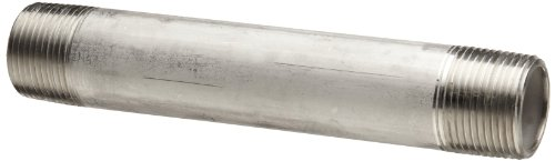 """4 1"""" Pipe NPT Close Nipples 316 Stainless Steel Pipe Fittings Sch 40"""