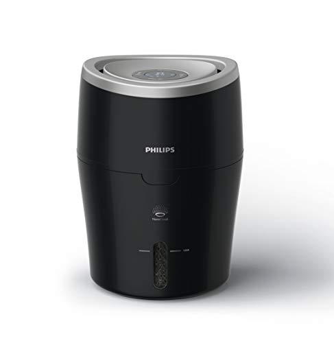 Philips Luftbefeuchter HU4814/10 (bis zu 44 m², hygienische NanoCloud-Technologie, leiser Nachtmodus, Automodus) schwarz