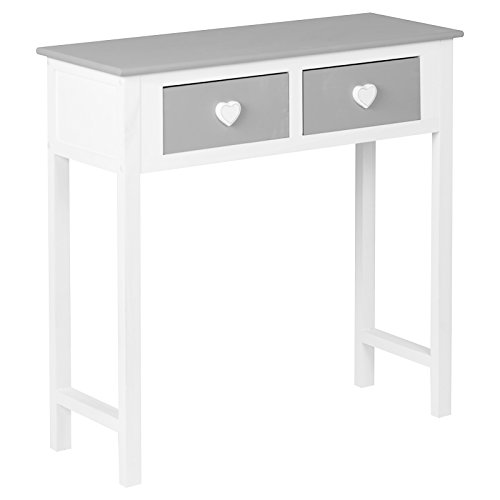 Hartleys White and Grey 2 Drawer Dressing/Console Table