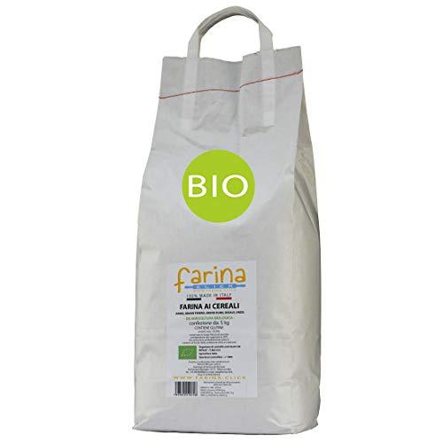 5 Kg farina ai 5 cereali BIO (multicereali composizione: farro, grano tenero, grano duro, segale, orzo)