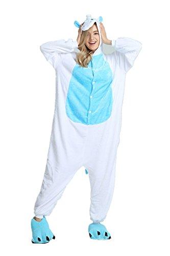 Mystery&Melody Unicornio Pijamas Cosplay Unicorn Disfraces Animales Franela Monos Unisex-Adulto Ropa de Dormir Disfraces de Fiesta (S, Blue-Unicorn)