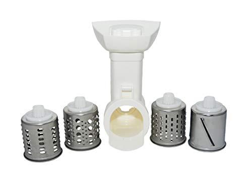 Trommelschnitzler Set/Raspeleinsatz/Gemüse Zerkleiner/Gemüseschneider/Reibe/passend für Küchenmaschine Küchengeräte Fleischwolf von Bosch/Balay/Constructa (1= SET)