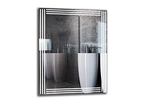 Espejo LED Premium - Dimensiones del Espejo 70x90 cm - Espejo de baño con iluminación LED - Espejo de Pared - Espejo de luz - Espejo con iluminación - ARTTOR M1ZP-51-70x90 - Blanco frío 6500K