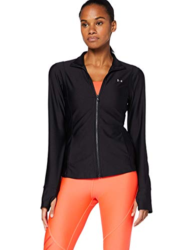 Under Armour Armour Sport Jacket, Chaqueta Deportiva para Mujer, Chaqueta Ligera y Funcional Mujer, Negro, M