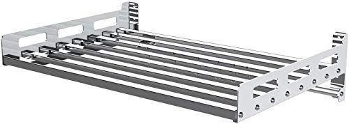 27 Inch Stainless Steel Wall Shelf Metal Shelving Heavy Duty Commercial or Household Grade Wall...