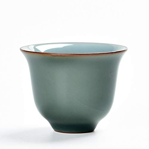 GBCJ Five Dynasties Kiln Ceramics Tea Cup RU Kiln Lotus Petal Kung Fu Tea Set Tea Cup Single Cup Small Tea Bowl Handmade Tea Set Soucoupe