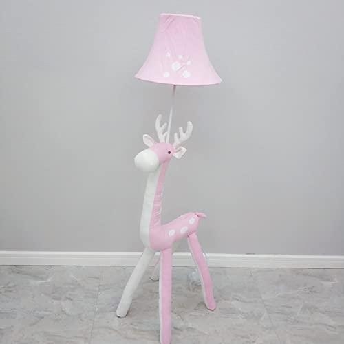 YINGGEXU Lámpara de pie moderna lámpara de pie para estudio de lectura, comedor, para sala de estar, pantalla de pie, Loft Cafe Deco, lámpara de pie (Color de la pantalla: Rosa)