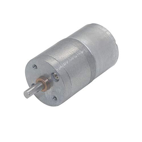 Lruirui-Motor DC Motor de Engranaje DC, Motor de Engranajes pequeños de 12 voltios Micro Metal DC12V, 6V 12 V Reductor de Velocidad Motores eléctricos, Larga Vida útil
